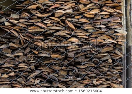 összehajtva fából készült bézs egyenetlen rácsok fűrészmalom Stock fotó © galitskaya