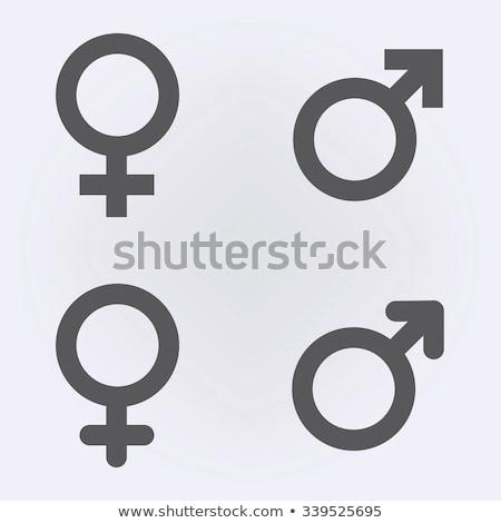 ジェンダー シンボル 男性 女性 3次元の図 紙 ストックフォト © olivier_le_moal