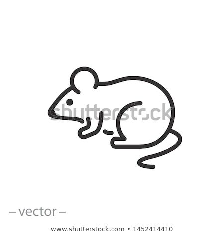 Rat Icon Vector Outline Illustration Stock photo © pikepicture