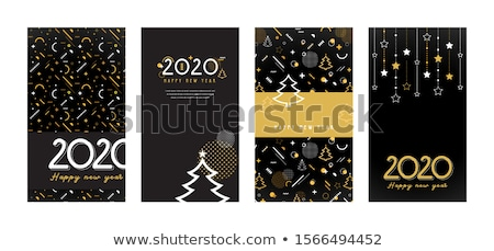 Cartaz projeto ano novo bebidas fogos de artifício ilustração Foto stock © bluering