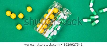 Bandeira minimalismo estilo modelo médico pílulas Foto stock © Illia