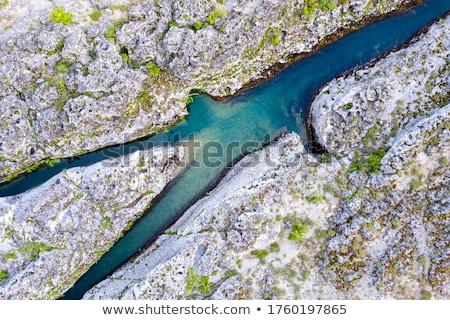 Berg Stream Canyon rock ziemlich Weg Stock foto © lovleah