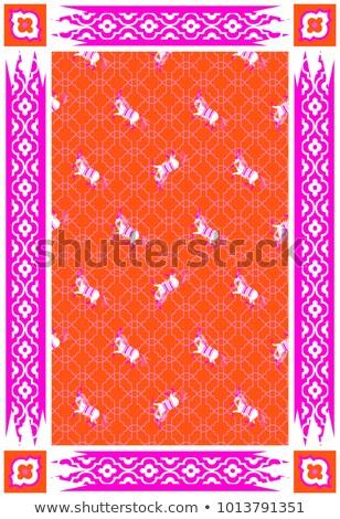 Circus paard Rood roze vector tapijt Stockfoto © yopixart