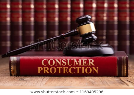 Gavel And Soundboard On Consumer Protection Law Book Stock photo © AndreyPopov