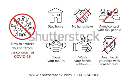 Coronavirus disease infographics with line design style icons Stock photo © Decorwithme