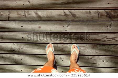 Orange flip-flops 1 Stock photo © stoonn