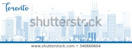 Toronto horizonte azul edificios Foto stock © ShustrikS
