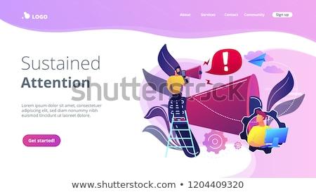 Draw attention concept landing page. Stock photo © RAStudio