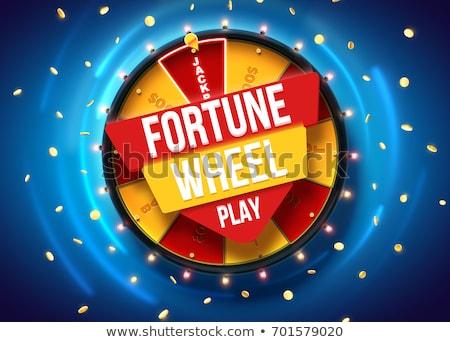Jogos de azar diversão cassino roda vetor Foto stock © robuart