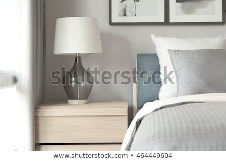 Furniture and Decor for Bedroom, Table with Lamp Stock photo © robuart