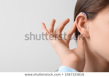 耳が聞こえない 耳 援助 子 女性 医師 ストックフォト © AndreyPopov