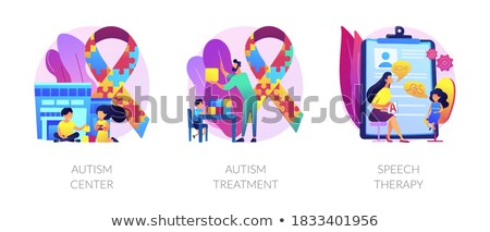 Autism spectrum disorder vector concept metaphors. Stock photo © RAStudio