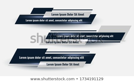 three geometric lower third banners set design Stock photo © SArts