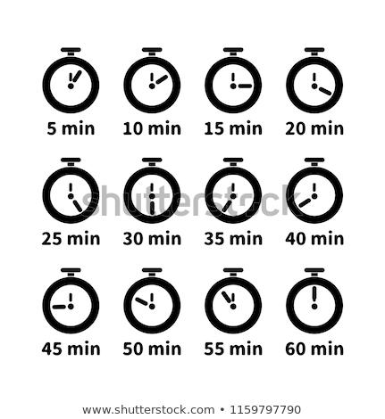 Establecer reloj caras diferente valores Foto stock © evgeny89