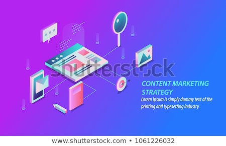 Flat design style illustrations of digital marketing, video and email marketing, social media Stock photo © PureSolution