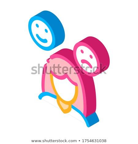 Sleepiness Symptomp Of Pregnancy isometric icon vector illustration Stock photo © pikepicture