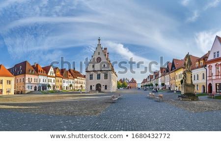 Historisch huizen Slowakije centraal vierkante stad Stockfoto © borisb17