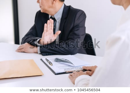Stock photo: Bribery And Corruption Concept Senior Businessman Manager Refus
