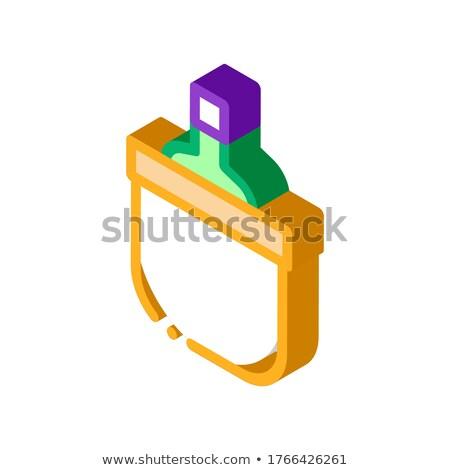пить бутылку охлаждение ковша изометрический икона Сток-фото © pikepicture