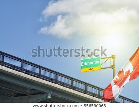 pecado · ciudad · muestra · de · la · carretera · verde · nube · dinero - foto stock © kbuntu