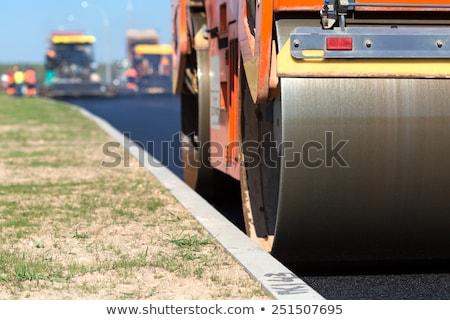 Camino de grava reparación carretera calle arena piedra Foto stock © deyangeorgiev