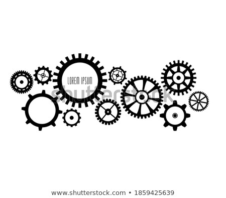 Cogs in action! with copy space. Stock photo © damonshuck