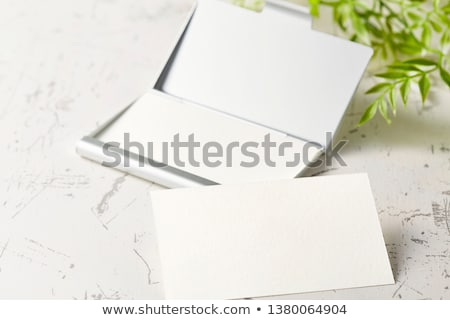 Business card in the green card holder  Stock photo © orson