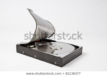 Dysk twardy nowoczesne głowie pisać srebrny Zdjęcia stock © gewoldi