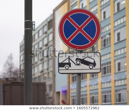 no stopping and parking sign stock photo © giashpee