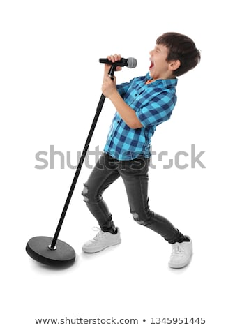 Boy singing Stock photo © zsooofija