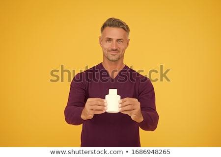 Man aftershave parfum klaar sexy Stockfoto © lovleah