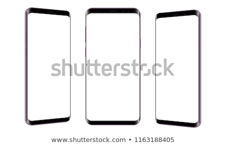 Drie telefoons mobiele telefoons scherm exemplaar ruimte internet Stockfoto © cla78
