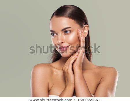 Stock fotó: Tökéletes · barna · hajú · közelkép · szépség · portré · fiatal