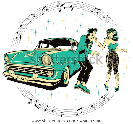rock-n-roll couple Stock photo © Galyna