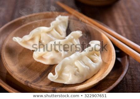 Chinese Dumplings With Vegetable Filling Foto d'archivio © szefei