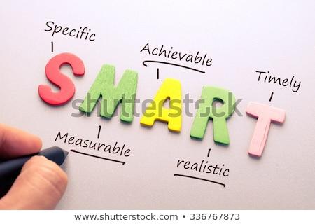 акроним Smart доске фон успех белый Сток-фото © bbbar