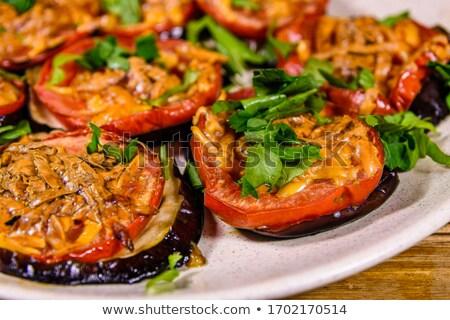 grilled aubergine and mozzarella Stock photo © M-studio