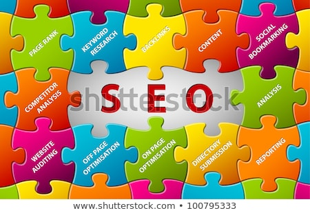 seo · vecteur · puzzle · résumé · fond - photo stock © orson