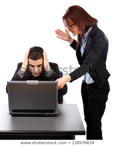 angry businesswoman pointing stock photo © photography33