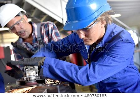 Aprendiz treinador oficina telefone homem trabalhar Foto stock © photography33
