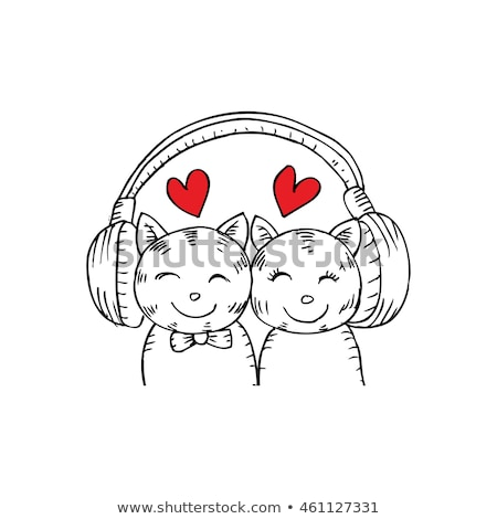 Musical couple in filed Stock photo © photography33