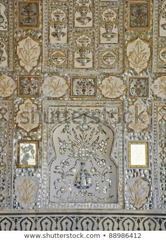 palacio · entrada · puerta · India · oro · arquitectura - foto stock © calvste