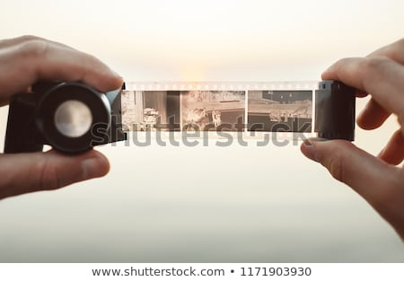 Stock photo: Photographic film in hands