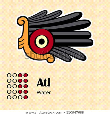 Aztec symbol Atl Stock photo © sahua