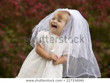 bruid · weinig · bruidsmeisje · poseren · romantische · witte - stockfoto © photography33