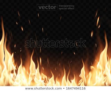 Chama brilhante fumar transparente fogo abstrato Foto stock © fixer00