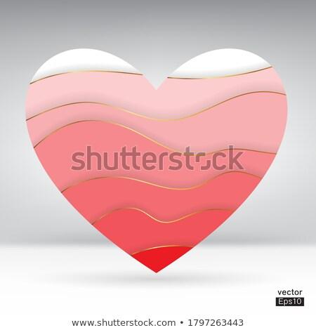 yakut · kırmızı · kalp · kalp · şekli · toplama · değerli - stok fotoğraf © arsgera