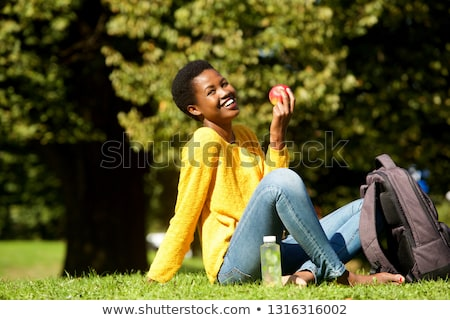 black woman with an apple Stock photo © photography33