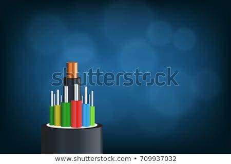 Сток-фото: пластиковых · оптический · красочный · темно · назад
