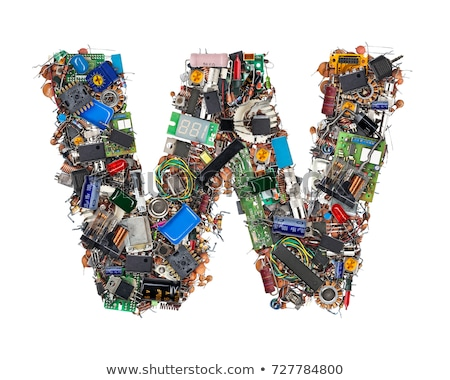 carta · eletrônico · placa · de · circuito · alfabeto · branco · um - foto stock © pzaxe